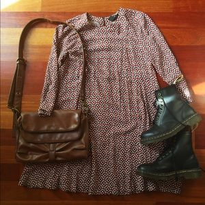 H&M patterned swing dress